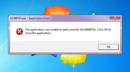 windows 0xc000007b Error