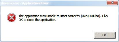 How to fix error 0xc00000ba