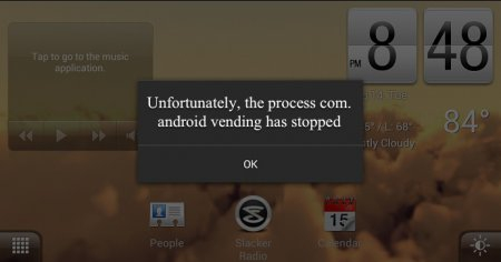 How to fix process com.android.vending has stopped?