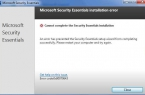 0x80070643 in Microsoft Security Essentials