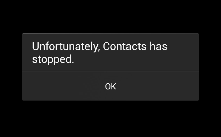Error: «Unfortunately, Contacts has stopped» on Samsung devices