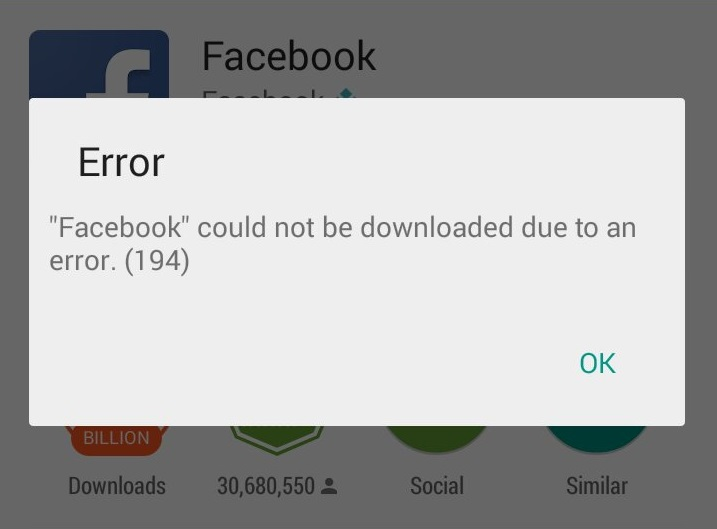 How to gix Google Play store Error 194