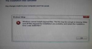 How to fix error code 0x80070017?