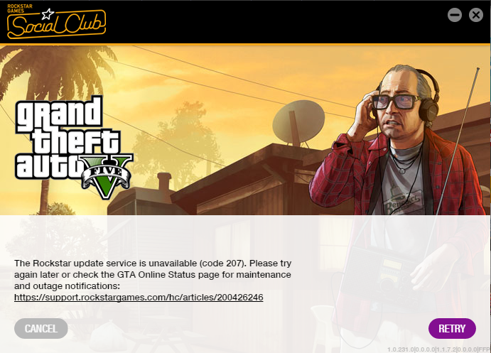How to fix error code 207 in GTA 5 Online