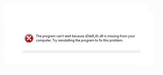 programme d3dx9 41.dll