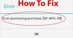 Error Processing Purchase DF-BPA-09