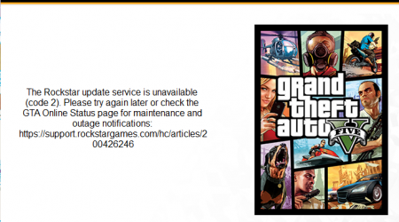 How to fix The Rockstar update service is unavailable (code 2) in GTA 5 on PC