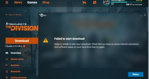 Failed to start download Tom Clancy's The Division