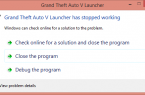 Grand Theft Auto V launcher has stopped working