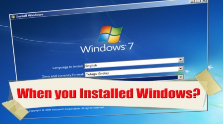 How to Determine Windows Installation Date?